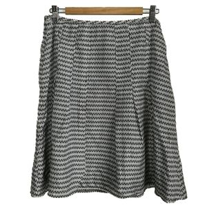 ESPRIT Silk Black and White Skirt, size 10